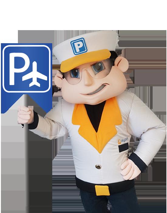 SkyParkSecure parking sign