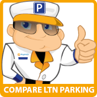 SkyParkSecure Luton airport parking logo