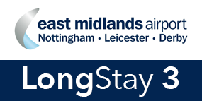 East Midlands Airport Long Stay 3 logo