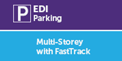 Edinburgh Airport Multi-Storey with fastTRACK bridge logo