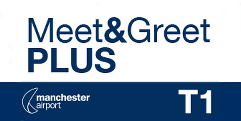 Meet and Greet PLUS T1 Manchester Airport logo