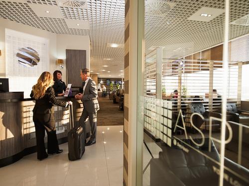 Birmingham Airport Aspire Lounge entrance