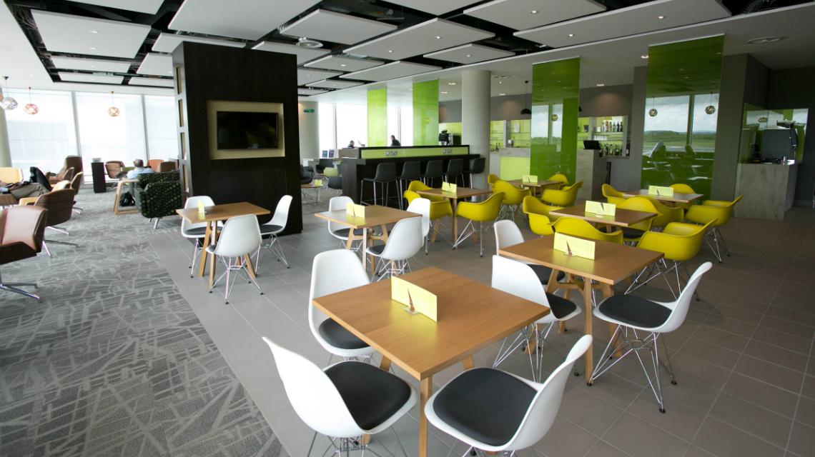 Escape Lounge Manchester Airport - T3 sofa