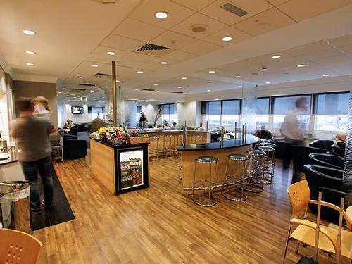 Heathrow Swissport Lounge Terminal 3 food