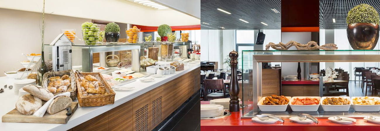 Heathrow Park Inn Hotel buffet