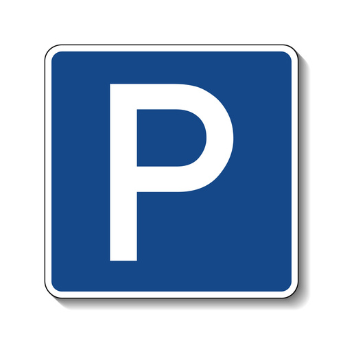 Airport car parking sign