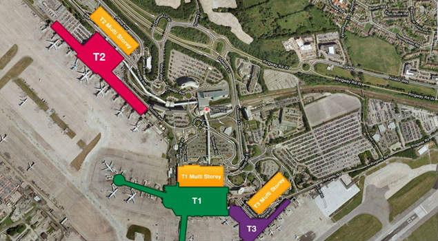 Manchester Airport Short Stay Parking Map